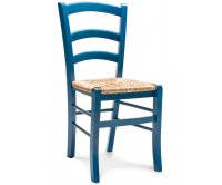 """Anita"" Rustic Colored Wooden Chair - Straw Seat"