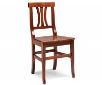 """""""Arte Povera"""" Wooden Chair - Wood Seat"""