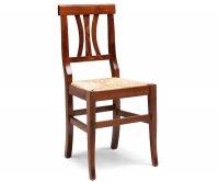 Arte Povera Sedia Legno - Seduta Paglia
