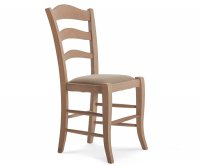 """""""Apuana""""  Wooden Chair - Padded Seat"""