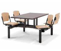 """Batik"" Wood Monoblock Canteen Table"