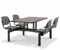 """Batik"" Polypropylene Monoblock Canteen Table"