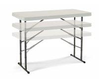 """Lifetime 80161"" Folding Table 122x61 Adjustable"