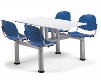 """""""Beta"""" Polypropylene Monoblock Canteen Table"""