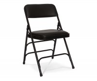 """Muriel"" Metal Upholstered Folding Chair"