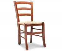 """Anita"" Rustic Wood Chair - Straw Seat"