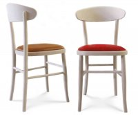 """""""Milano Eclipse"""" Wooden Chair - Padded Seat"""