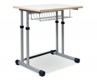 CC1107  Single-seater School Desk - Adjustable Top and  Two-pillar