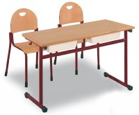 CC1560 Adjustable two-seater school desk