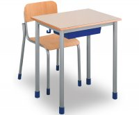 CC1143 Single-seater School Desk with Plastic Undertop