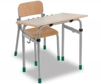 CC1650  Single-seater school desk - Inclinable floor