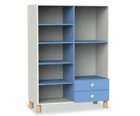 CC7414 2-compartment shelf with 2 drawers