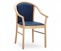 Manuela Upholstered Wood Armchair