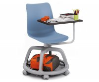 College Bench Single Seater School with Wheels