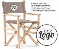 Sanremo Folding Wood Director Chair