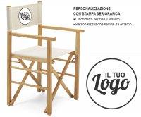 Versilia Folding Wood Director Chair