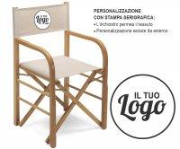 Montecarlo Folding Wood Director Chair