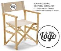 Capri Folding Wood Director Chair