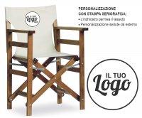 Nizza Folding Wood Director Chair