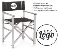 Fellini Sedia Regista Pieghevole Alluminio
