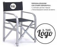 Coppola Sedia Regista Pieghevole Alluminio