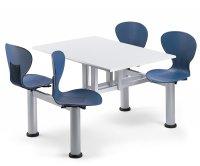 """""""Brio"""" Polypropylene Monoblock Canteen Table"""